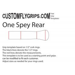 """""""One"""" Spey Rear Free Grip Template"""