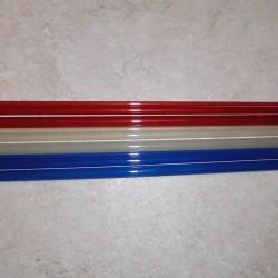 """5WT 8'6 """"3 stuk doorschijnend glasvezel Blank"""