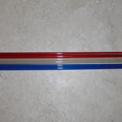 3WT rojo 6'6 '' 2 pieza de fibra de vidrio translúcido blanco