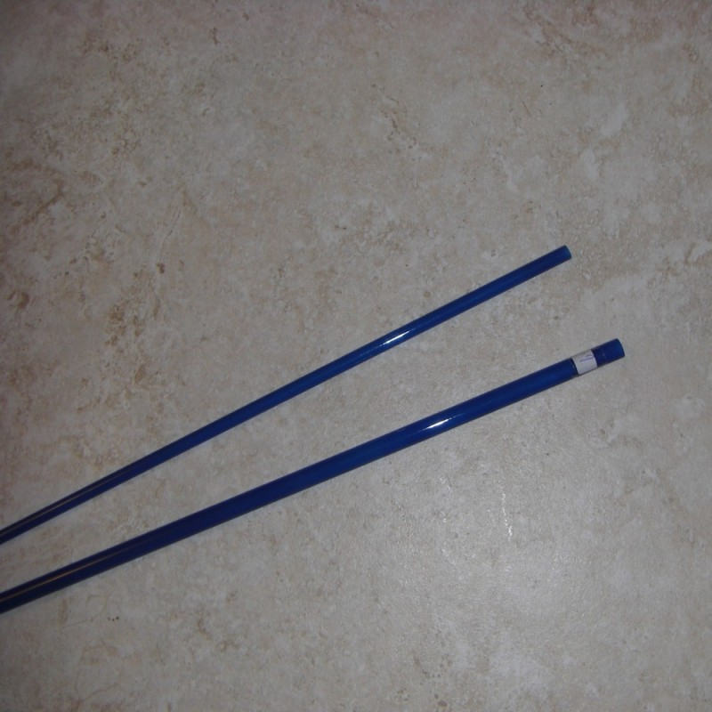 Cfg blanks 2 3wt 6 39 6 2 piece translucent fiberglass fly for Fiberglass fishing rods