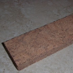 "Natural Vertical Wave Cork Strips 0.5"" x 1.5"" x 12"""