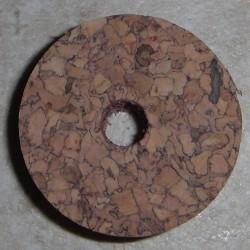 """Cincin Cork speckled Burl 1/2"""" dengan 1/4"""" lubang Pusat"""