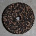 """1.5"""" rubberized Cork ringen 1/2"""" met 1/4"""" Center gat"""