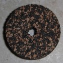 "1.5"" Rubberized Cork Rings 1/2"" with 1/4"" Center Hole"