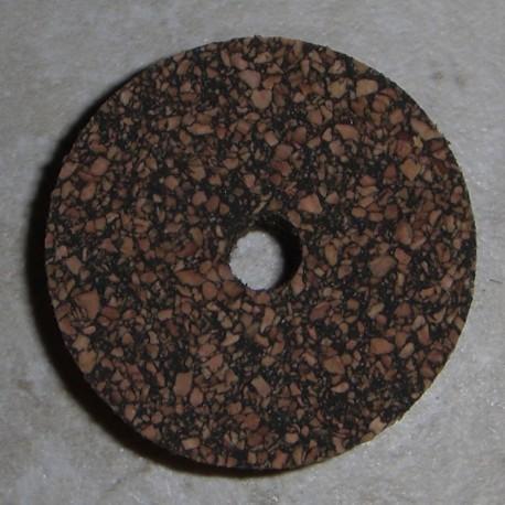 """Noir tacheté 1.5"""" caoutchouté bagues en liège avec Center trou de 1/4"""" 1/2"""""""