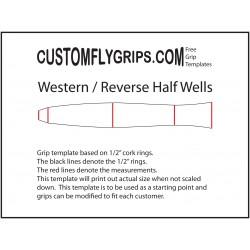 Länsi / taaksepäin Half Wells vapaa Grip Template