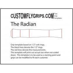 Radian vapaa Grip Template