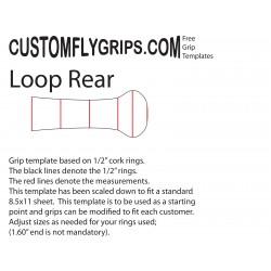 Modelo de aderência livre traseiro Loop Spey