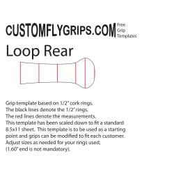 Rear Loop Spey Free Grip Template