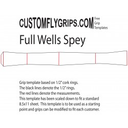 """12"""" volledige Wells gratis Grip Template"""