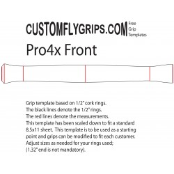 "12"" Pro4x Spey Free Grip Template"