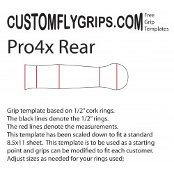Rear Pro4x Spey Free Grip Template