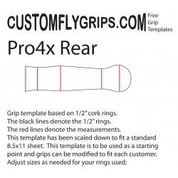 Takana Pro4x Spey vapaa Grip Template