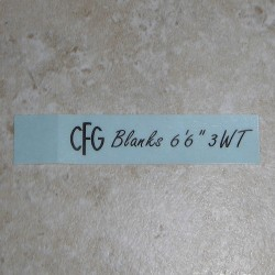 Black on Clear Custom Rod Building Decals