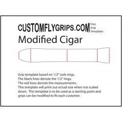 Zmodyfikowane cygaro wolna ogarnięty szablon