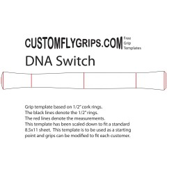 "11"" DNA Switch gratis Grip sjabloon"
