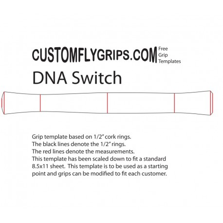 """11"""" DNA Switch Free Grip Template"""