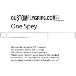 """One"" Spey gratis Grip sjabloon"