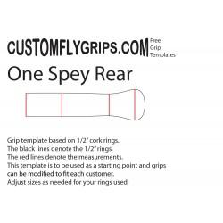 Modèle de poignée libre Spey arrière de «one»