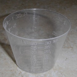 1 once époxy et finition mêlant Cups (nombre de 100)