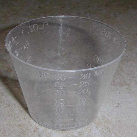 1 onza de epoxi y acabado de mezcla tazas (cuenta 100)