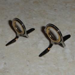Lillen dubbel fot strippar / gjutning guider med guld Ring