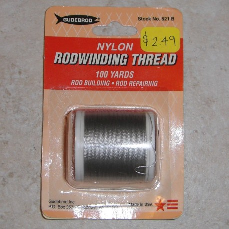 Gudebrod Nylon draad grootte D (100 yard spoelen)