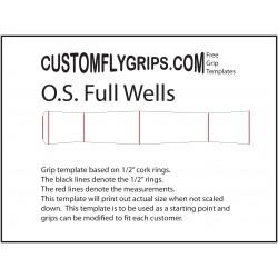 Ylikoko koko Wells vapaa Grip Template