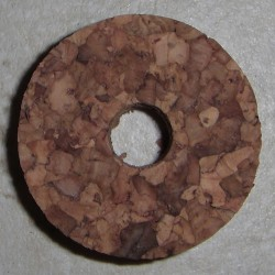 """Anéis de cortiça de burl 1/2"""" com 1/4"""" buraco central"""