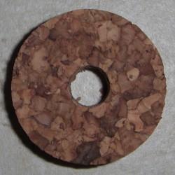 """Burl Cork ringen 1.5"""" met 3/8"""" gat van het Center"""
