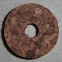 "Burl Cork Rings 1.5"" with 3/8"" Center Hole"