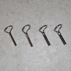 Forecast Chrome Large Loop Fly Tip Tops