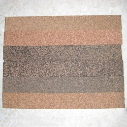 "Rubberized Cork Strips 0.5"" x 1.5"" x 12"""