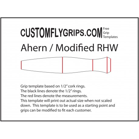 Ahern / Modified Reverse Half Wells Free Grip Template