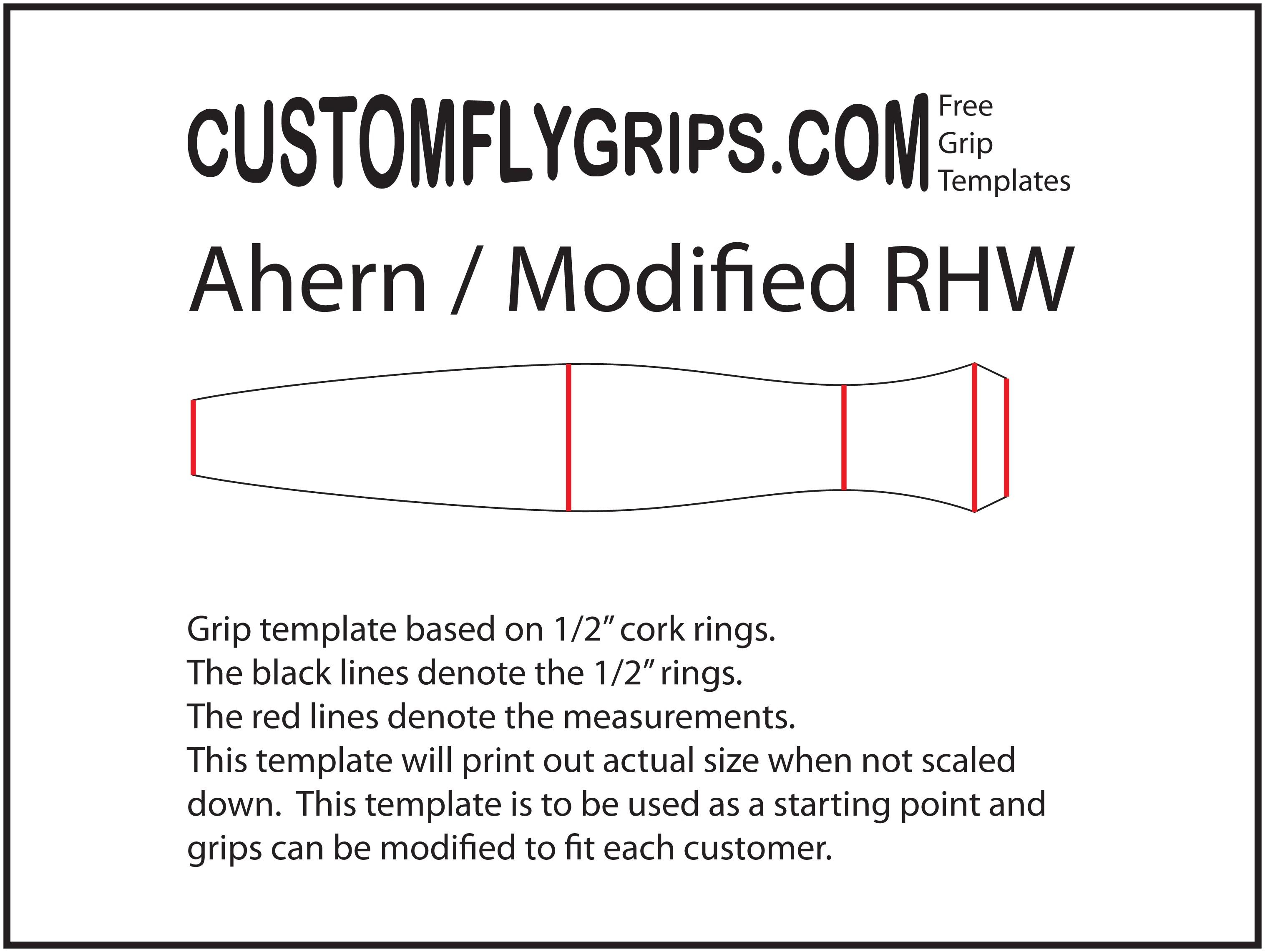 Una plantilla de agarre gratis completo pozos - Custom Fly Grips LLC
