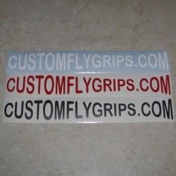 Adesivo in vinile CUSTOMFLYGRIPS.COM Logo