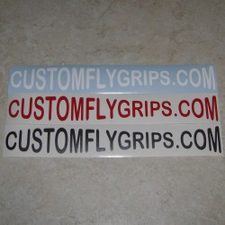 CUSTOMFLYGRIPS.COM Logo Vinyl Sticker