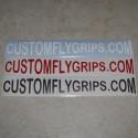 CUSTOMFLYGRIPS.COM Logo Vinyl Sticker