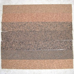 "Rubberized Cork Strips 0.25"" x 1.5"" x 12"""