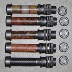 Matowe aluminium brąz drewna lub węgla Wstaw mucha kołowrotka WT 3-6