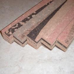 """Burl angolato Cork blocca 1.5 """"x 1,5"""" x 12 """""""