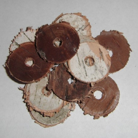 Birch Bark Rings (Cut and Raw) 1/2""