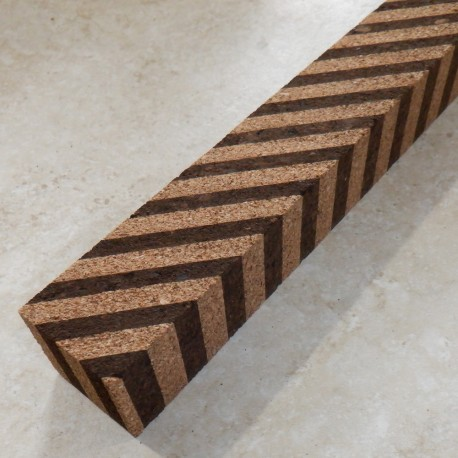 "Angled Burl Cork Blocks 1.5"" x 1.5"" x 12"""