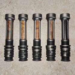 Nhôm matte Gunmetal gỗ hoặc cacbon chèn bay Reel chỗ 3-6 WT