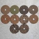 """Met rubber bekleede Cork ringen 1/4"""" met 1/4"""" Center gat"""