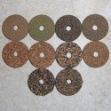 "Rubberized Cork Rings 1/4"" with 1/4"" Center Hole"