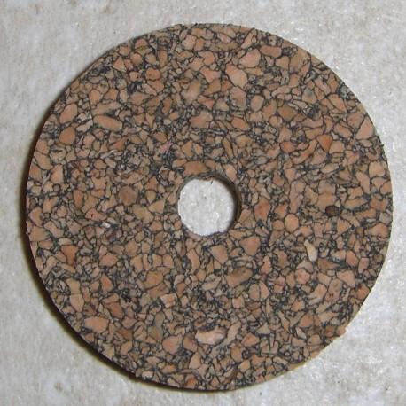 """Black Premium Burl Cork Rings 1/8"""""""