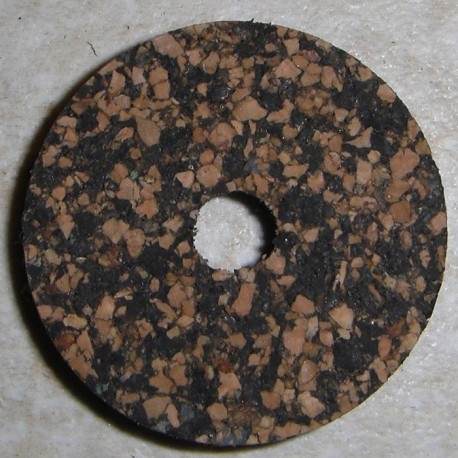 """Musta tumma laikullinen Rubberized Cork Rings 1/4"""" 1/4"""" keskireiän"""