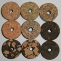"""Burl Cork Rings 1/2"""" with 1/4"""" Center Hole"""