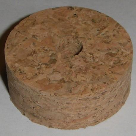 """Bagues en liège naturel ronce 1/2"""" avec 1/4"""" trou central"""